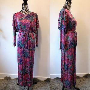 Vintage self tie maxi dress